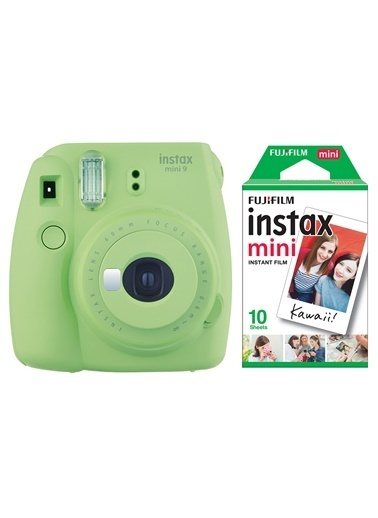 Fujifilm Instax Mini 9 Yeşil Fotoğraf Makinesi & 10'lu Film Yeşil